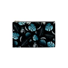 Tropical Pattern Cosmetic Bag (small)  by Valentinaart