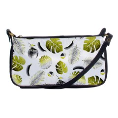 Tropical Pattern Shoulder Clutch Bags by Valentinaart