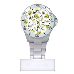 Tropical Pattern Plastic Nurses Watch by Valentinaart