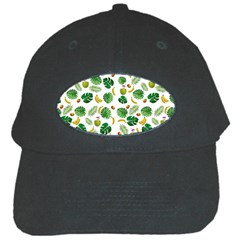 Tropical Pattern Black Cap by Valentinaart