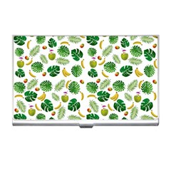 Tropical Pattern Business Card Holders by Valentinaart