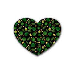 Tropical Pattern Heart Coaster (4 Pack)  by Valentinaart