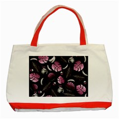 Tropical Pattern Classic Tote Bag (red) by Valentinaart