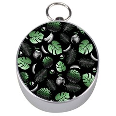 Tropical Pattern Silver Compasses by Valentinaart