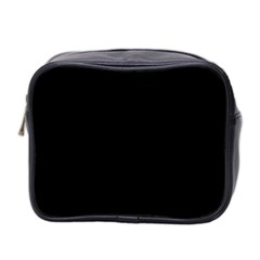 Black Mini Toiletries Bag 2 Side by ValentinaDesign