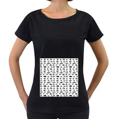 Fish Pattern Women s Loose Fit T Shirt (black) by ValentinaDesign
