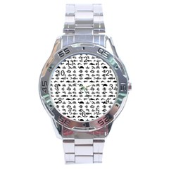 Fish Pattern Stainless Steel Analogue Watch by ValentinaDesign