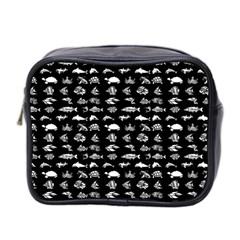 Fish Pattern Mini Toiletries Bag 2 Side by ValentinaDesign