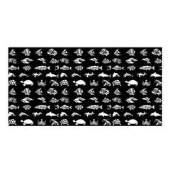 Fish Pattern Satin Shawl by ValentinaDesign