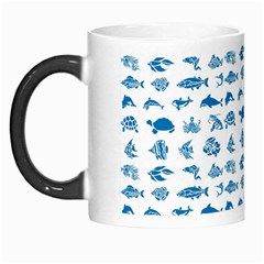 Fish Pattern Morph Mugs by ValentinaDesign