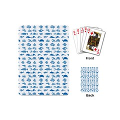 Fish Pattern Playing Cards (mini)  by ValentinaDesign