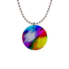 Rainbow Colors              1  Button Necklace by LalyLauraFLM