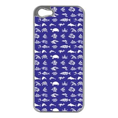 Fish Pattern Apple Iphone 5 Case (silver) by ValentinaDesign