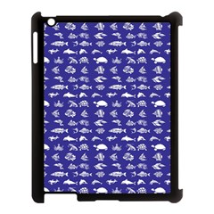 Fish Pattern Apple Ipad 3/4 Case (black) by ValentinaDesign