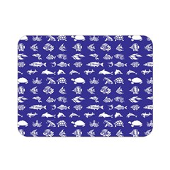 Fish Pattern Double Sided Flano Blanket (mini)  by ValentinaDesign