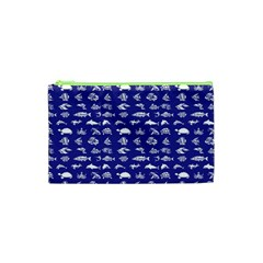 Fish Pattern Cosmetic Bag (xs) by ValentinaDesign