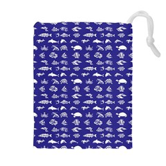 Fish Pattern Drawstring Pouches (extra Large)