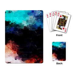 Paint strokes and splashes              Playing Cards Single Design by LalyLauraFLM