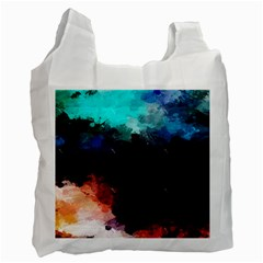 Paint Strokes And Splashes              Recycle Bag by LalyLauraFLM