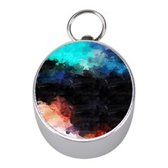 Paint Strokes And Splashes              Silver Compass (mini) by LalyLauraFLM