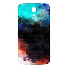 Paint Strokes And Splashes        Samsung Galaxy Note 4 Pu Leather Hardshell Back Case by LalyLauraFLM