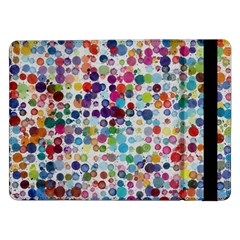 Colorful Splatters         Samsung Galaxy Tab Pro 10 1  Flip Case by LalyLauraFLM