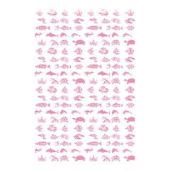 Fish Pattern Shower Curtain 48  X 72  (small)  by ValentinaDesign