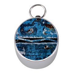Blue Painted Wood                Silver Compass (mini)