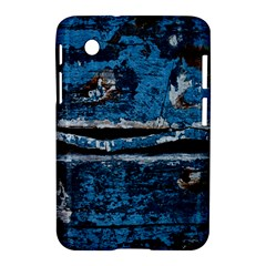 Blue Painted Wood          Apple Iphone 5c Hardshell Case by LalyLauraFLM