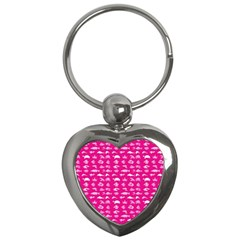 Fish Pattern Key Chains (heart)  by ValentinaDesign