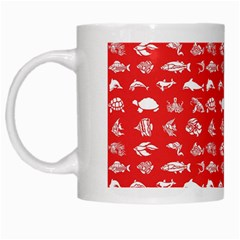 Fish Pattern White Mugs by ValentinaDesign