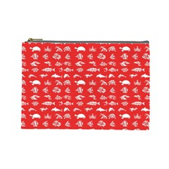 Fish Pattern Cosmetic Bag (large)  by ValentinaDesign