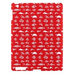 Fish Pattern Apple Ipad 3/4 Hardshell Case by ValentinaDesign