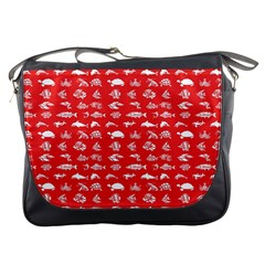 Fish Pattern Messenger Bags by ValentinaDesign