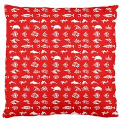 Fish pattern Large Cushion Case (One Side)