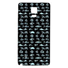 Fish Pattern Galaxy Note 4 Back Case by ValentinaDesign