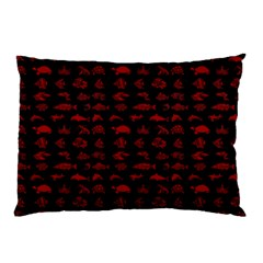 Fish Pattern Pillow Case by ValentinaDesign