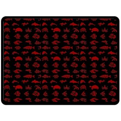 Fish Pattern Double Sided Fleece Blanket (large)  by ValentinaDesign