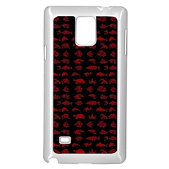 Fish Pattern Samsung Galaxy Note 4 Case (white) by ValentinaDesign