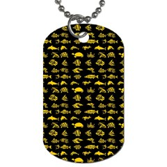 Fish Pattern Dog Tag (one Side) by ValentinaDesign