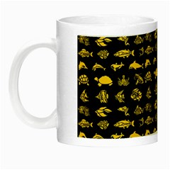 Fish Pattern Night Luminous Mugs by ValentinaDesign