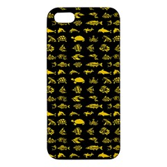 Fish Pattern Apple Iphone 5 Premium Hardshell Case by ValentinaDesign
