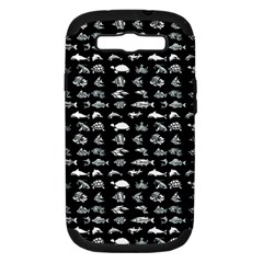 Fish Pattern Samsung Galaxy S Iii Hardshell Case (pc+silicone) by ValentinaDesign