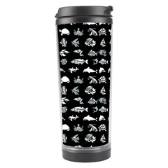 Fish Pattern Travel Tumbler by ValentinaDesign