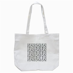 Fish Pattern Tote Bag (white) by ValentinaDesign