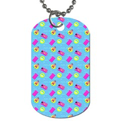Summer Pattern Dog Tag (two Sides) by ValentinaDesign