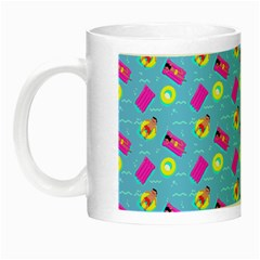 Summer Pattern Night Luminous Mugs by ValentinaDesign