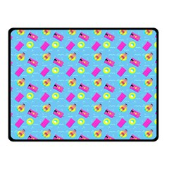 Summer Pattern Double Sided Fleece Blanket (small)  by ValentinaDesign