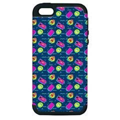 Summer Pattern Apple Iphone 5 Hardshell Case (pc+silicone)