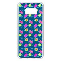 Summer Pattern Samsung Galaxy S8 Plus White Seamless Case by ValentinaDesign